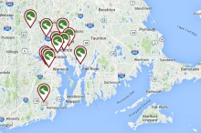 Rhode Island Trails map