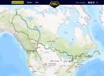 Trans Canada Trail map