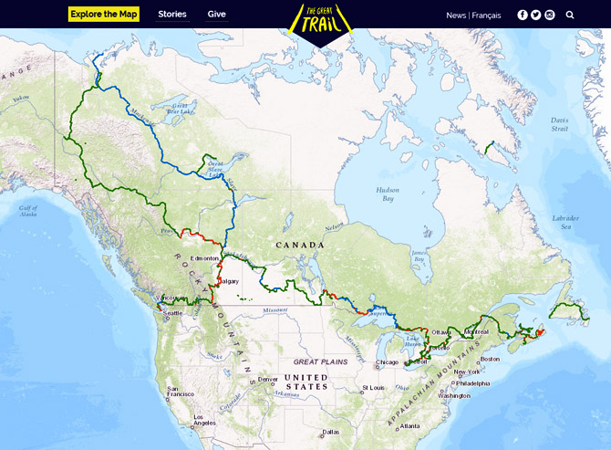 Trans Canada Trail Map Trans Canada Trail – Bike New England