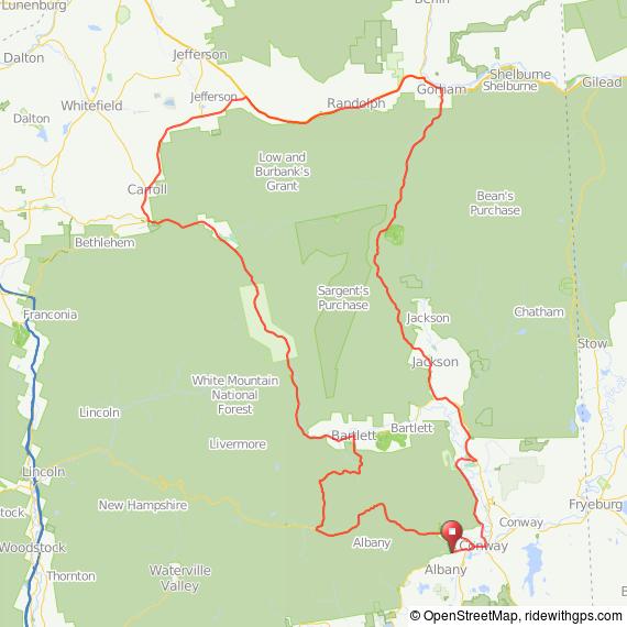 Mount Washington Century map