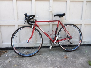 "1987 Trek 420 touring bike, updated 27 speed, 54mm, 30.5"" standover height.  $275"