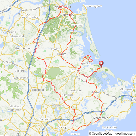 70 mile bike ride Ipswich MA