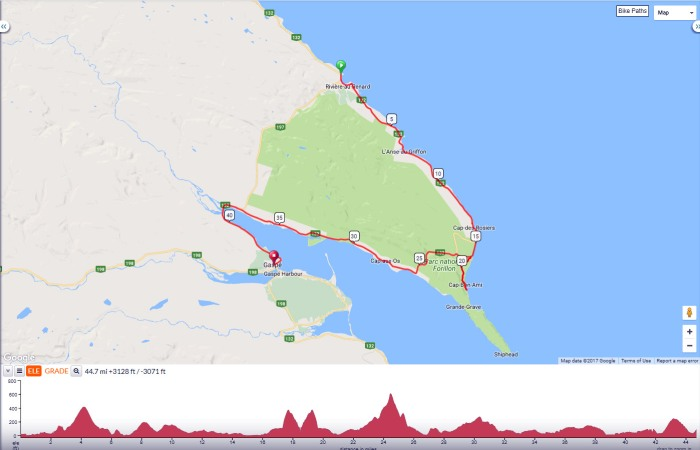 Gaspe bicycle tour day 6