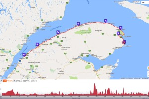 Gaspe Canada Map.Canada Bike New England