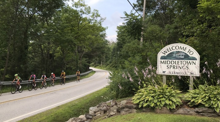 Point to Point bicycle ride starting from Middletown Springs